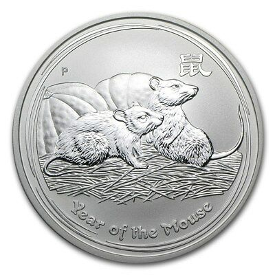 Silver Coin Australia Lunar II - Year of the Mouse 2008 - 1 oz 99.9% pure silver
