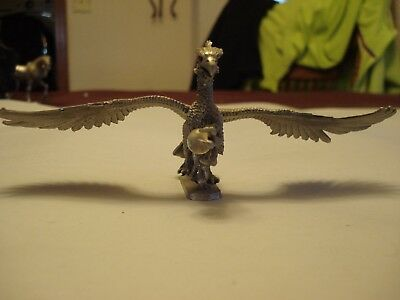 Vintage RAL PARTHA Pewter Dragon, Dated & Marked, 6 x 2