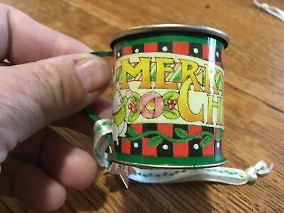 Mary Engelbreit small tin cup ornaments lot of 4