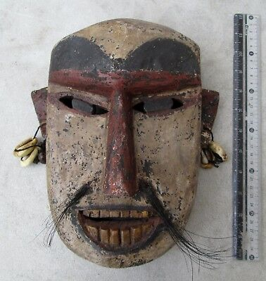 SPOOKY OLD Yao MIen Hill Tribe Teak Shaman Exorcism Mask