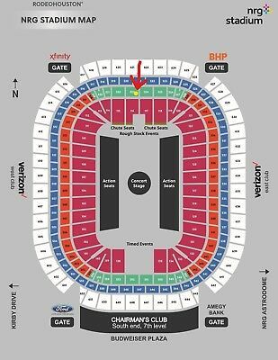 2 OLD DOMINION  at Rodeo Houston, Section 323, Row E