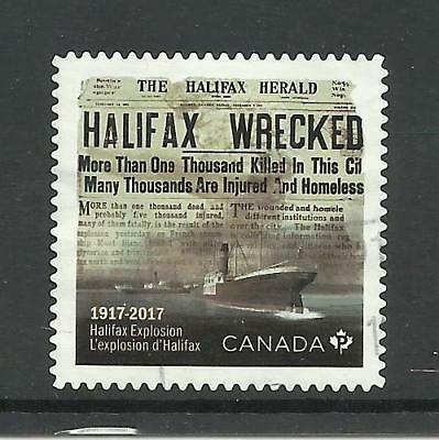 Used Canada Stamps #3050 - Halifax Explosion 100Th Anniversary From Booklet 2017