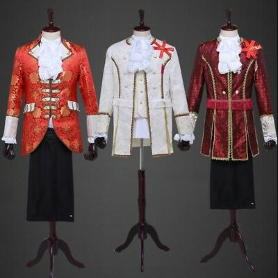 2018 Mens European Court England Retro Show Uniform Jackets Coats Luxury Fashion