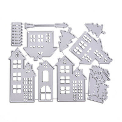 House Cutting Dies Stencil DIY Scrapbooking Paper Embossing Decor Supplies