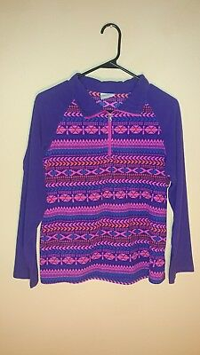 Columbia Girls XL (18/20) Purple/Pink Glacial print, Pullover, 1/2 zip,