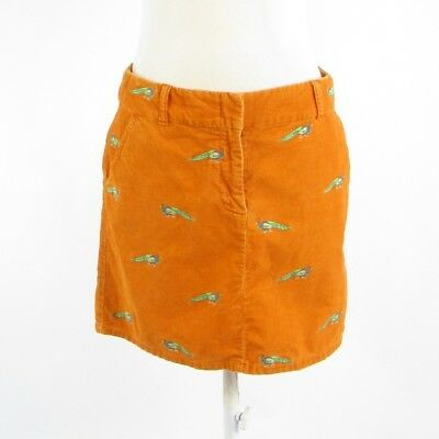 b3d0ba6b66 J. CREW MINI Skirt Corduroy Orange 4-Pocket Zipper Front 6 - $40.00 ...