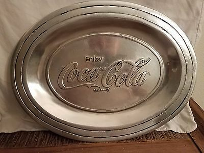 Coca Cola Pewter Tray in Exceptional Condition