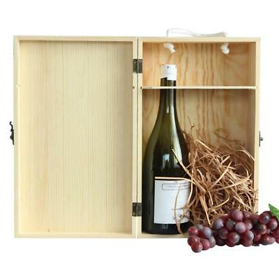 Personalized Bottle Wooden Wine Box Wedding Groomsman Bridesmaid Birthday Gift
