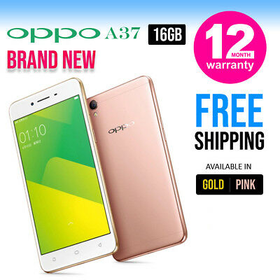 New Factory Unlocked OPPO A37 Gold Dual SIM 16GB Android Smartphone Gold Pink