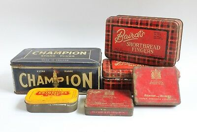 Collectable Tins, Champion SparkPlug, Bairds Shortbread, Benson & Hedges