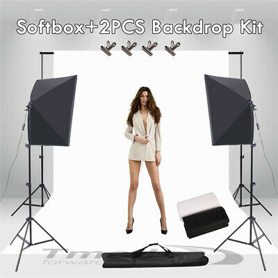 1350W Photography Softbox Studio Lighting KIT/2X3M Photo Backdrop/Support Stand