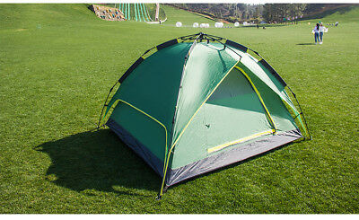 AUS 2-4 Person Instant Pop Up Family Tents Camping Outdoor Shelter Double Layers