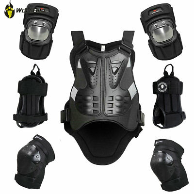 Motorcycle VEST Protector Guard Moto Cycling Knee Elbow Safe Gear Body Armour