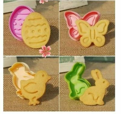 Animal Shaped Easter Cookie Plunger Cake Decoration Mold Spring Rabbit Butterfly