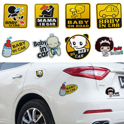 Baby on Board Car Stickers Reflective Car Decals Safety Caution Sign UK