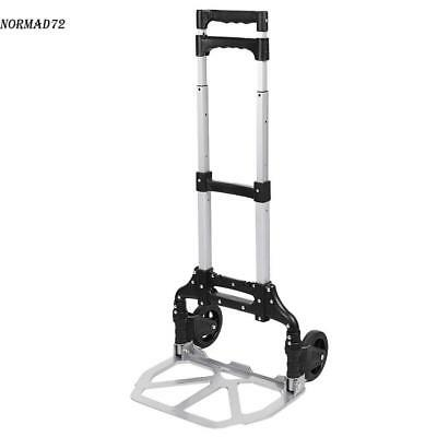 Folding Aluminium Cart Luggage Cart Trolley Hand Truck Silver, 150 lbs ND71