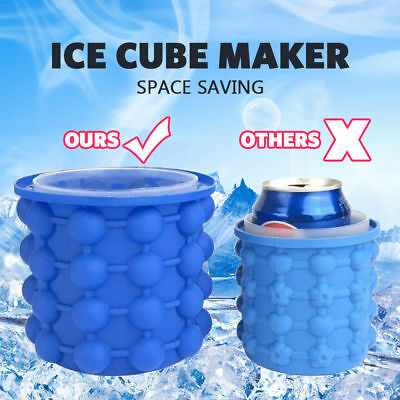 Largest Magic Ice Cube Maker Bucket Silicone Genie Revolutionary Kitchen Tool