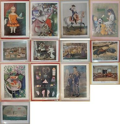 Lot of 13 Vintage Art  Print for My Weekly Reader Art Gallery 1 Magazine