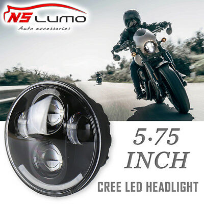 5-3/4 5.75 Inch Daymaker Projector LED Headlight DRL Harley Davidson Motorcycle