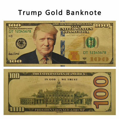Wholesale Lot 10x President Donald Trump Gold Foil Plated Banknote Dollars XGUS