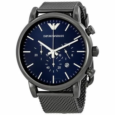 BRAND NEW Emporio Armani Sport Chronograph Men's Watch AR1979 Stainless GIFT
