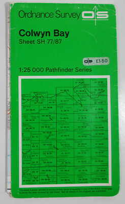 1971 OS Ordnance Survey 1:25000 Second Series Pathfinder Map Colwyn Bay SH77/87