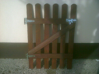 WOODEN PICKET GARDEN GATE MADE FROM QUALITY TREATED WOOD 66cm-X-90cm