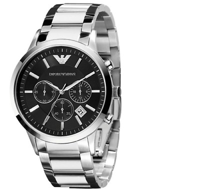 BRAND NEW Emporio Armani Sport Chronograph Men's Watch AR2434 Stainless GIFT