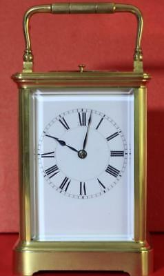 Henry Jacot Antique French Striking Repeater 8Day Grande Corniche Carriage Clock