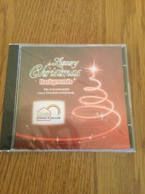 NEW AND SEALED - Create & Craft Luxury Christmas Backgrounds CD Rom Paper Craft