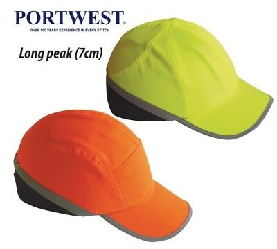 5551ac23b05 Portwest Hi Vis Protective Bump Cap Baseball Style Safety Hard Hat Workwear  PW79