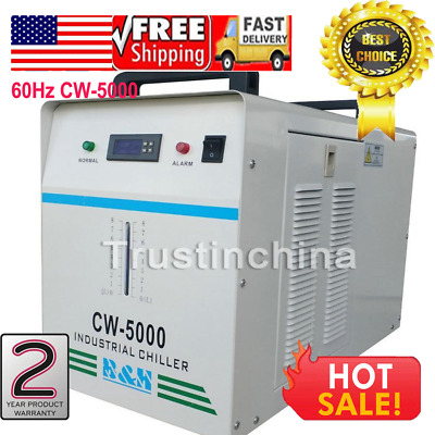 110V 60Hz CW-5000DG Industrial Water Chiller for One 80W/100W CO2 Glass Laser