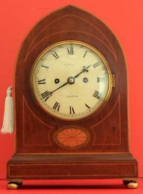 Maple Antique English Mahogany 8 Day Twin Fusee  Bracket Clock