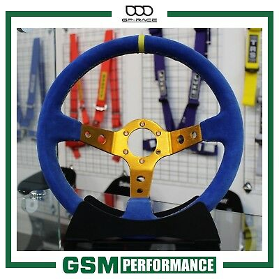 Gp Race - Condor Suede Steering Wheel - Blue