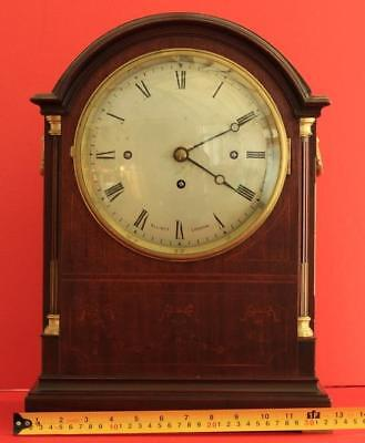 Elliott London Triple Fusee 8 Day Westminster Chimes Mahogany Bracket Clock