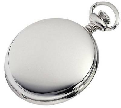Woodford Chrome Plated Full Hunter Swiss Pocket Watch - Silver