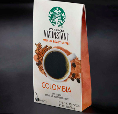 Starbucks VIA INSTANT Colombia coffee 20 boxes, 240 packets