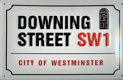 Downing Street SW1 City Of Westminster metal tin sign  wall art Us Seller