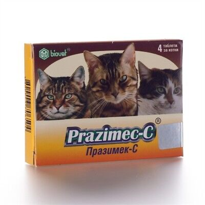 PRAZIMEC C Tablets For Cats Cestodes Roundworms Filariasis FleasTicks Deworming
