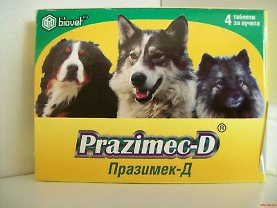 PRAZIMEC D Tablets For Dogs Cestodes Roundworms Filariasis Fleas Ticks Deworming