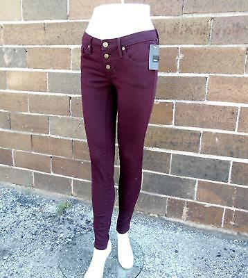 Womens Mossimo Burgundy Mid Rise Skinny Jeans (Size 18)