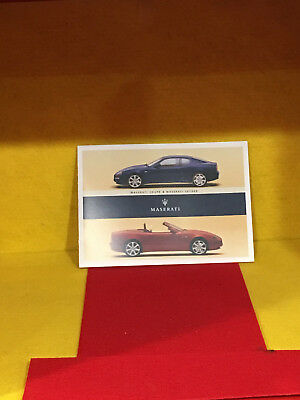 Maserati Coupe And Spyder 2003 Brochure