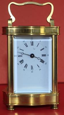 Vintage French L'epee 8 Day Doucine Serpentine Timepiece Carriage Clock