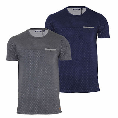 f905fdd1297 MENS BRAVE SOUL Striped Heritag Grandad Neck T Shirt In Small Only ...