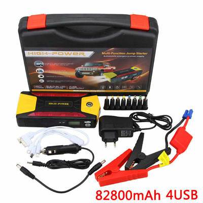 12V_82800mAh Portable Car Jump Starter Pack Booster Charger Battery & Power Bank