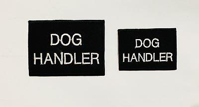 Dog Handler Security Pet Embroidered Iron ON Sew On Patch Badge Clothe Vest Hat