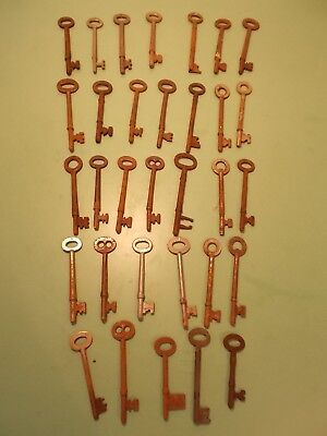 JOB LOT ANTIQUE/VINTAGE KEYS ,   RIM LOCK ETC.  X 32  approx 4""