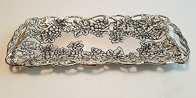 Godinger Silver Plate Cracker Tray Discontinued Grape Design