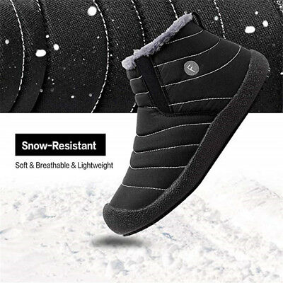 Winter Warm Snow Ankle Boots Men's Outdoor Casual Shoes Slipper Non-slip Slip on