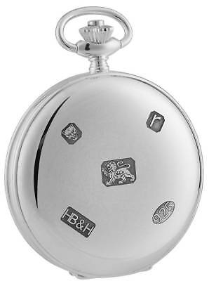Woodford Sterling Silver Full Hunter Pocket Watch - Silver